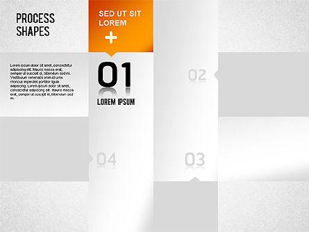 Striped Stages Diagram, Slide 10, 01369, Business Models — PoweredTemplate.com