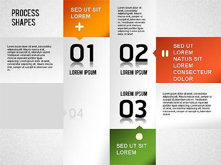 Striped Stages Diagram, Slide 12, 01369, Business Models — PoweredTemplate.com