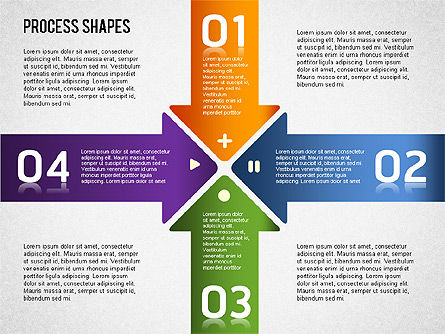 Striped Stages Diagram, Slide 14, 01369, Business Models — PoweredTemplate.com