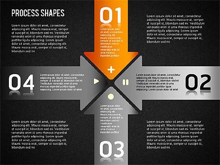 Striped Stages Diagram, Slide 16, 01369, Business Models — PoweredTemplate.com