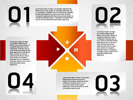 Striped Stages Diagram, Slide 5, 01369, Business Models — PoweredTemplate.com