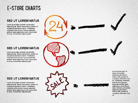 E-Store Analyzing Chart , Slide 3, 01370, Business Models — PoweredTemplate.com