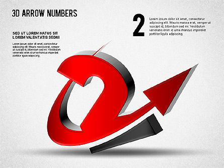 3D Arrow Numbers Slide 2