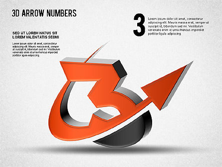 3D Arrow Numbers Slide 3