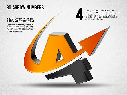 3D Arrow Numbers Slide 4