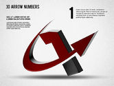 Shapes: 3D Arrow Numbers #01371