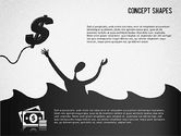 Shapes: Financial Concept Shapes #01373