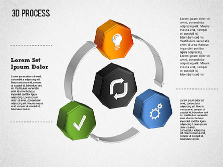 3D Circle Process with Icons, Slide 2, 01374, Process Diagrams — PoweredTemplate.com