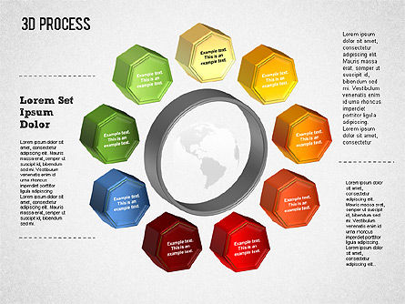 3D Circle Process with Icons, Slide 4, 01374, Process Diagrams — PoweredTemplate.com