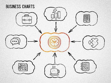 Sketch Drawing Style Charts, Slide 2, 01375, Business Models — PoweredTemplate.com