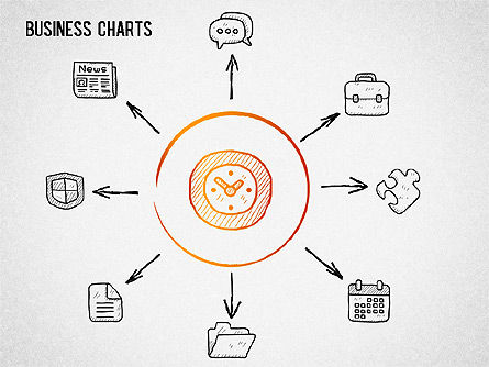 Sketch Drawing Style Charts, Slide 4, 01375, Business Models — PoweredTemplate.com