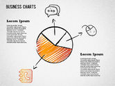 Business Models: Sketch Drawing Style Charts #01375