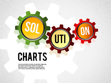 Solution Shapes and Charts, 01377, Business Models — PoweredTemplate.com