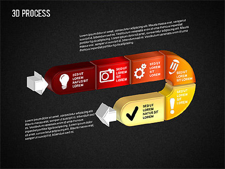 3D Process, Slide 3, 01378, Process Diagrams — PoweredTemplate.com