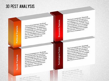 3D PEST Analysis Diagram, Slide 10, 01380, Business Models — PoweredTemplate.com