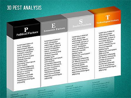 3D PEST Analysis Diagram, Slide 11, 01380, Business Models — PoweredTemplate.com