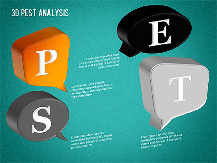 3D PEST Analysis Diagram, Slide 12, 01380, Business Models — PoweredTemplate.com