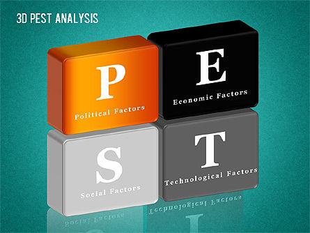 3D PEST Analysis Diagram, Slide 15, 01380, Business Models — PoweredTemplate.com