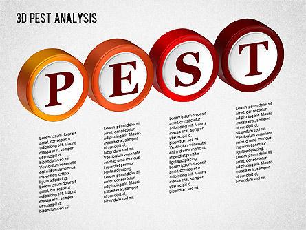 3D PEST Analysis Diagram, Slide 3, 01380, Business Models — PoweredTemplate.com