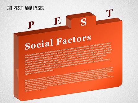 3D PEST Analysis Diagram, Slide 6, 01380, Business Models — PoweredTemplate.com