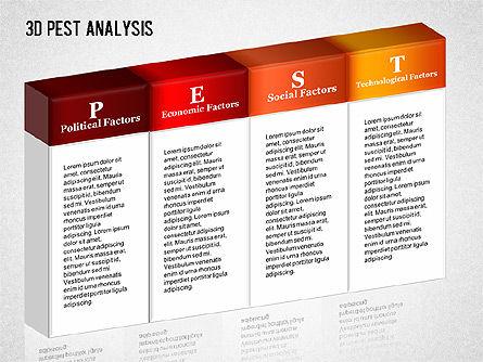 3D PEST Analysis Diagram, Slide 8, 01380, Business Models — PoweredTemplate.com