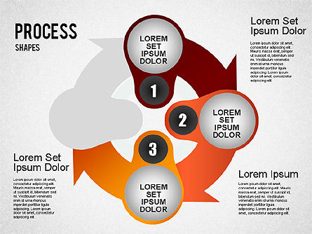 Stage Process Shapes, Slide 3, 01384, Process Diagrams — PoweredTemplate.com