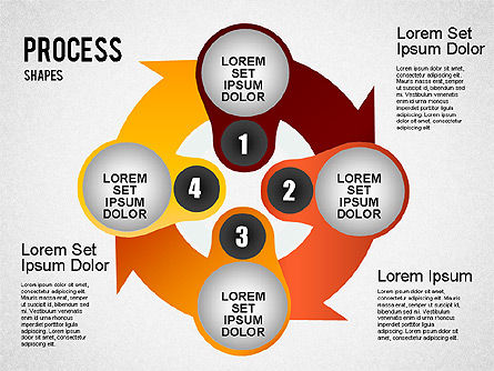 Stage Process Shapes, Slide 4, 01384, Process Diagrams — PoweredTemplate.com