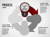 Process Diagrams: Stage Process Shapes #01384