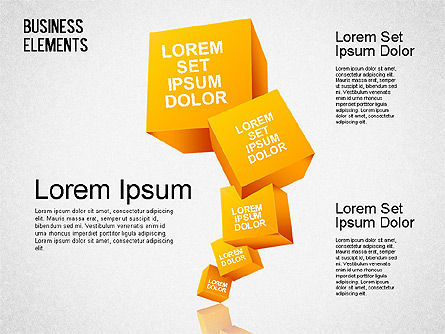 Illustrative Shapes, 01385, Shapes — PoweredTemplate.com