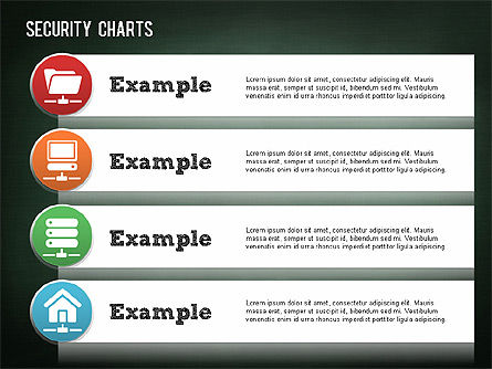 Online Security Chart, Slide 13, 01387, Process Diagrams — PoweredTemplate.com