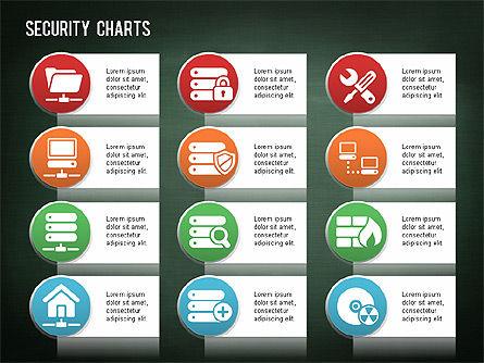 Online Security Chart, Slide 15, 01387, Process Diagrams — PoweredTemplate.com