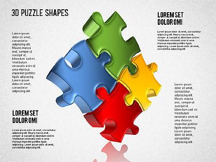 3D Puzzle Shapes, Slide 4, 01389, Puzzle Diagrams — PoweredTemplate.com