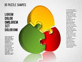 Puzzle Diagrams: 3D Puzzle Shapes #01389