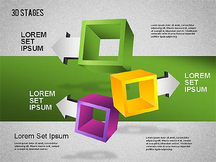 3D Stages Diagram, Slide 3, 01391, Stage Diagrams — PoweredTemplate.com