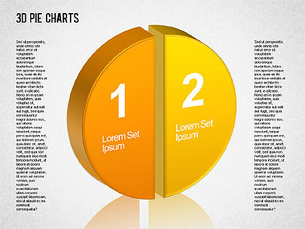 Pie Charts: 3D Pie Chart Toolbox #01394