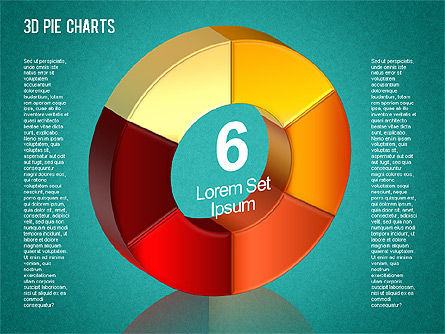 3D Pie Chart Toolbox, Slide 10, 01394, Pie Charts — PoweredTemplate.com