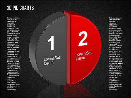 3D Pie Chart Toolbox, Slide 11, 01394, Pie Charts — PoweredTemplate.com