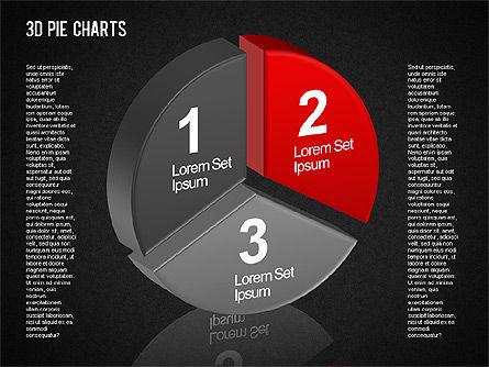 3D Pie Chart Toolbox, Slide 12, 01394, Pie Charts — PoweredTemplate.com