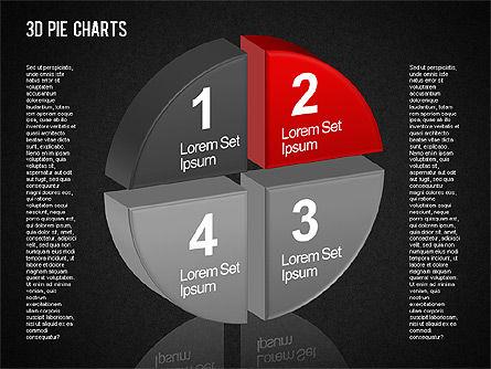3D Pie Chart Toolbox, Slide 13, 01394, Pie Charts — PoweredTemplate.com