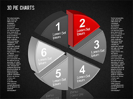 3D Pie Chart Toolbox, Slide 15, 01394, Pie Charts — PoweredTemplate.com