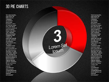 3D Pie Chart Toolbox, Slide 16, 01394, Pie Charts — PoweredTemplate.com