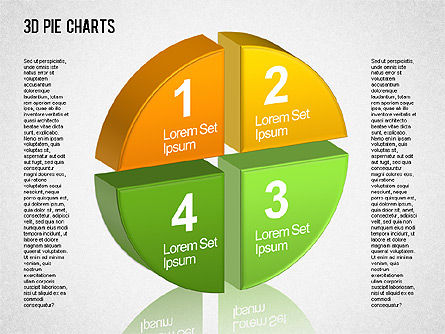 3D Pie Chart Toolbox, Slide 3, 01394, Pie Charts — PoweredTemplate.com