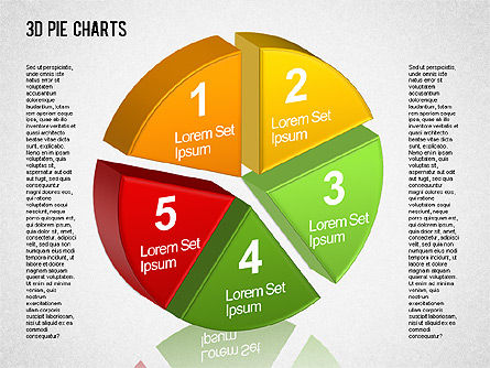 3D Pie Chart Toolbox, Slide 4, 01394, Pie Charts — PoweredTemplate.com