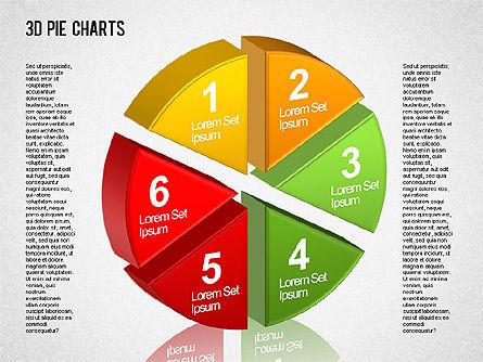 3D Pie Chart Toolbox, Slide 5, 01394, Pie Charts — PoweredTemplate.com