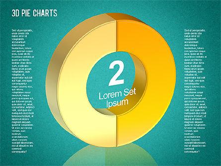 3D Pie Chart Toolbox, Slide 6, 01394, Pie Charts — PoweredTemplate.com
