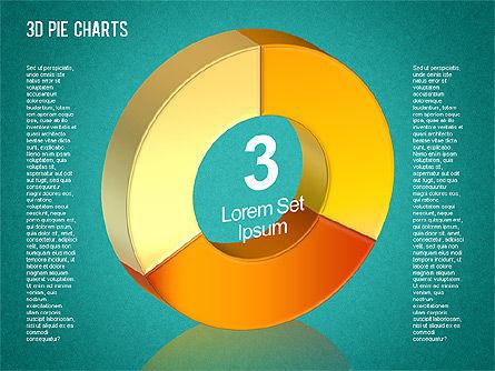 3D Pie Chart Toolbox, Slide 7, 01394, Pie Charts — PoweredTemplate.com