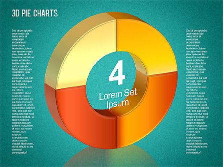 3D Pie Chart Toolbox, Slide 8, 01394, Pie Charts — PoweredTemplate.com