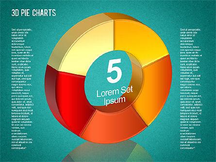 3D Pie Chart Toolbox, Slide 9, 01394, Pie Charts — PoweredTemplate.com