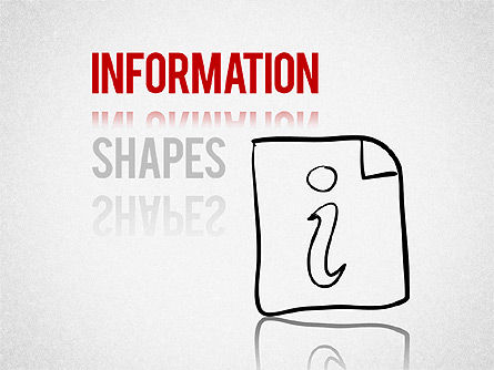 Colored Information Shapes, 01398, Shapes — PoweredTemplate.com