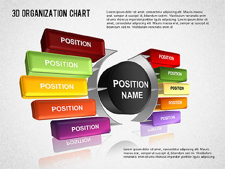 3D Organizational Chart for PowerPoint Presentations, Download Now ...